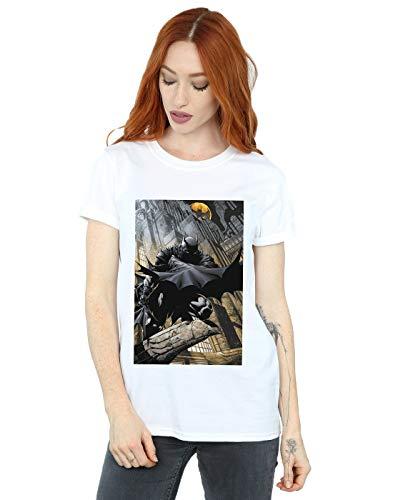 DC Comics Mujer Batman Night Gotham City Camiseta del Novio Fit Blanco X-Large