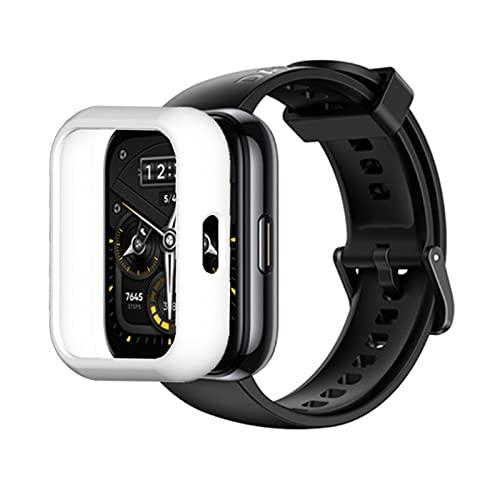 Schutzhülle Kompatibel mit Realme 2 Pro Smart Watch , aus PC Gehäuse Smartwatch Anti-Scratch Vollschutz Displayschutzfolie Kratzfest Displayschutz Schutz Hülle (Weiß)