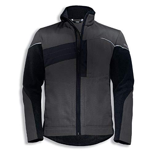 Uvex Perfexxion Herren-Arbeitsjacke - Dunkelgraue Männer-Hybridjacke - Viele Taschen XXL