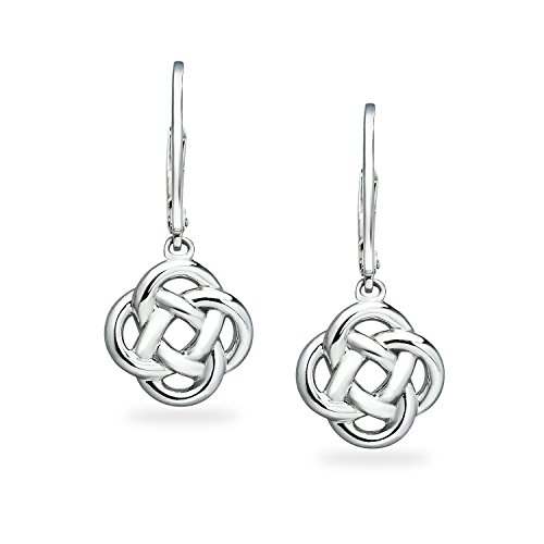River Island Sterling Silver Love Knot Dangle Leverback Earrings For Women