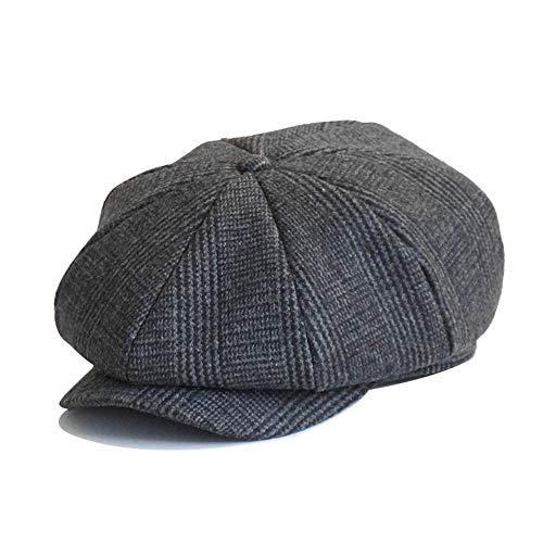 Letway Sombrero de Boina para, Hombre Algodón Ajustable al Aire Libre Gorra de Vendedor de periódicos Casual Hombre Gorra Plana