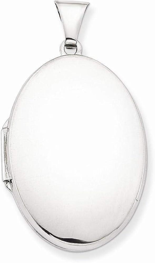 Sterling Silver Cheap SALE Start It is very popular Polished Locket Oval 2-Frame