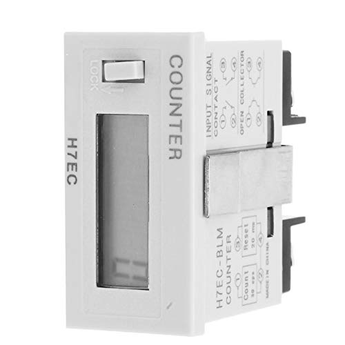 Jeanoko 0-999999 Totalizador Pantalla LCD H7EC-BLM Contador eléctrico Estable para Sistemas eléctricos