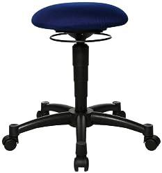Bürohocker mit bew. Sitzfl., Durchm.xH 360x420-550 mm, höhenverstellb., royalblau
