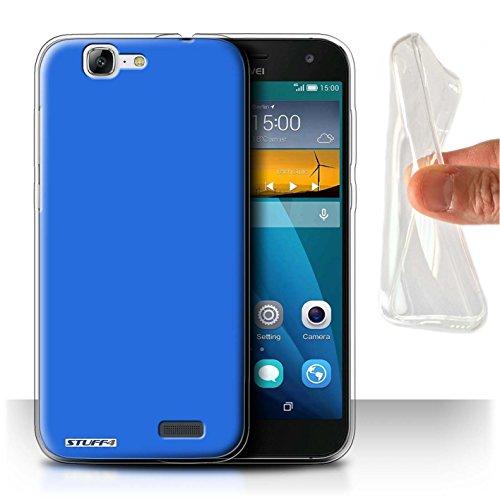 Hülle Für Huawei Ascend G7 Farben Blau Design Transparent Dünn Weich Silikon Gel/TPU Schutz Handyhülle Case