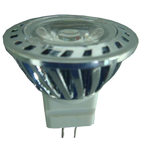 YEZIO Bombilla de maíz LED, 4pcs Anodizado De Aluminio De RoHS del CE MR11 Epistar Focos LED 3w Gu4 Focos LED 12V CC, Lámpara de maíz de luz Diurna (Size : Cool White 6000K)