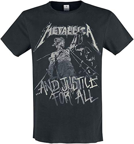 Amplified Shirt Metallica and Justice for All Black, Schwarz, M