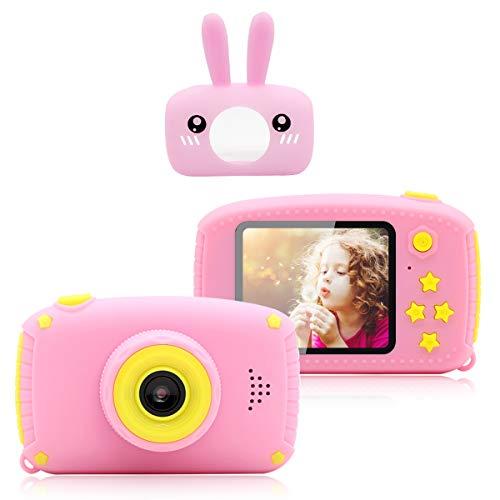 PUZ TOY Mini cámara Fotos Infantil Juguetes niños 3-10 años HD 1080P cuelga facil cámara Fotos Digital niñas A Prueba de Golpes Digital Video Cámara Infantil Regalos para niñas Manualidades