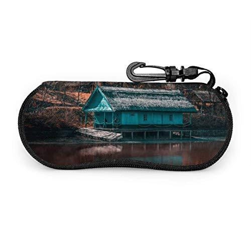 TURFED Ruhiger See und schöne Landschaft Brillenetui Soft Shell, ultraleichte Neopren-Schutzhülle für Brillen und Sonnenbrillen-CSS