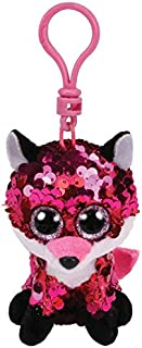 Stuffems Toy Shop Ty Flippables Sequin Plush - Jewel The Fox (Plastic Key Clip - 3.5 inches)