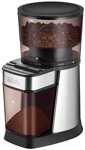UNOLD 28915 Edel Kaffeemühle, 150, Edelstahl/Kunststoff, Schwarz