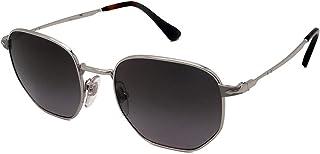 Persol - 0Po2446S 518/M3 52 Gafas de sol, Plateado (Greydarkgreypolar), Hombre