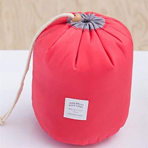 ZJXYYYzj Trousse De Maquillage, Sac cosmétique Ronde de la Mode Maquillage Sac étanche Voyage Makeup Organisateur Femme Stockage Kit Case Lady Toiletry Box (Color : Red)