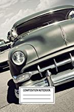 Composition Notebook: Cars Old American Car Automotive Works Wide Ruled Note Book, Diary, Planner, Journal for Writing