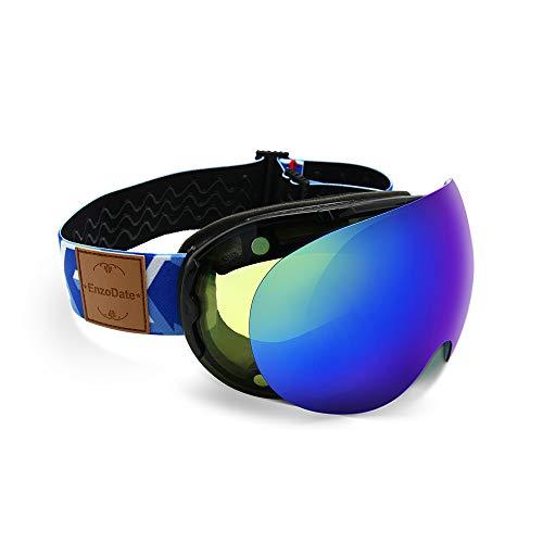 Skibrille 2 in 1 mit Magnetic Dual-Use-Objektiv Nachtskilauf Anti-Fog UV400 Snowboard Sonnenbrille
