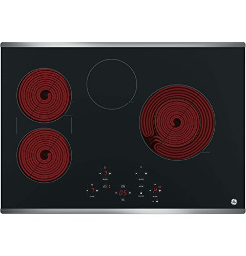 GE JP5030SJSS 30 Inch Smoothtop Electric Cooktop with SyncBurner, Keep Warm, Digital Touch Controls, 4 Radiant Elements, Built-in Timer, Melt Setting, ADA Compliant Fits Guarantee 2 JP5030SJSS