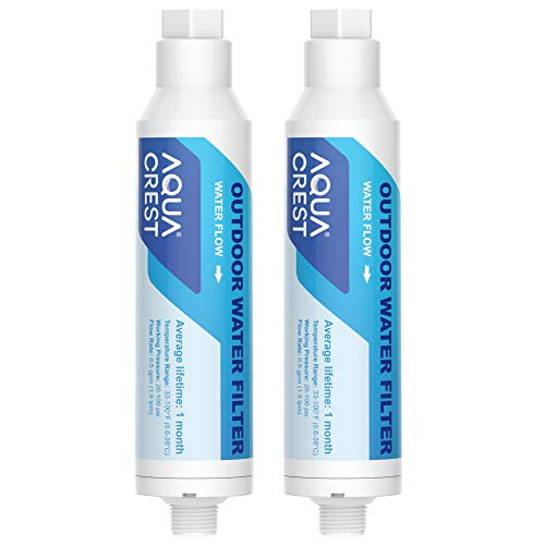 AQUA CREST Inline Water Filter, Dedicated for Car Washing, Window & Yard Cleaning, Effectively Reduce Hard Water Spots, Soften Water, Upgraded Formula, Pack of 2
