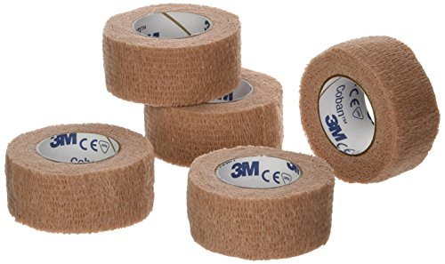 "3M - 27119 Coban Self- Adherent Wrap, 1""x 5yds, Pack of 5 Rolls"