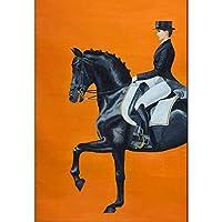 GAOWF 大人のためのDIY5Dダイヤモンド絵画キット、ラウンドフルドリルクリスタルラインストーン刺繡アート、紳士ダイヤモンド絵画家の装飾 (Size : 70x100cm)