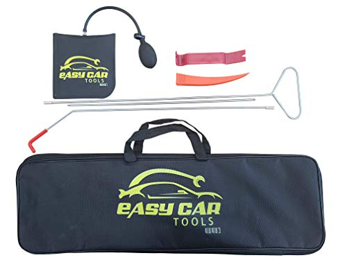 Professional Car Tool Kit - Emergency Vehicle Tools, Automotive Tool Kit with Air Wedge Bag Pump, Long Reach Grabber, Non-Damaged Wedge & Waterproof Carrying Case for Cars Truck