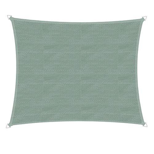 Windhager 10769 Capri Voile d'ombrage rectangulaire 3 x 4 m Protection Solaire pour Jardin et terrasse, résistant aux UV et aux intempéries Olive