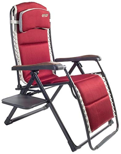 Quest Bordeaux Pro relax XL chair with side table. Camping Chair Outdoor Camping Furniture
