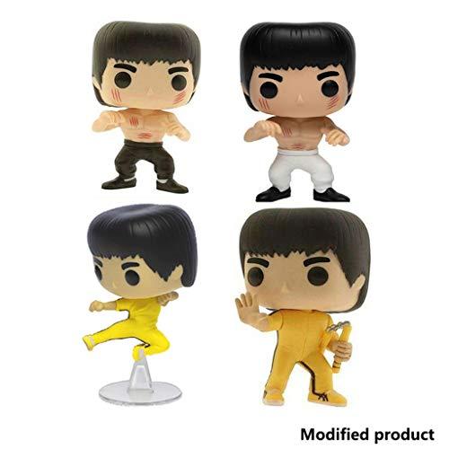 Siyushop Figuras De Vinilo De Bruce Lee Enter The Dragon De Pop Movies - Figura De Vinilo De Bruce Lee Game of Death De Pop Movies - Alto 3.9 Pulgadas (Juego De 4 Piezas)