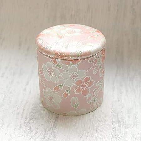 国産 ミニ骨壷2寸 桜ころも シリコンパッキン付分骨用骨壷 (ピンク)