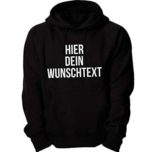 Kapuzenpullover mit Wunschtext/Selber gestalten mit dem Amazon T-Shirt Designer/Hoodie Druck/Shirt Designer Kapuzenpullover Hoodie-Black-s