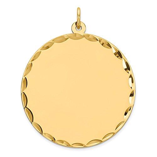 Saris and Things 925 Silber vergoldet Sterling Silber vergoldet für Gravur polierte runde disc Charm und anhänger