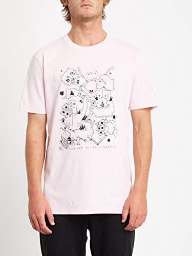 Volcom Herren Briand FA SS Kurzärmeliges T-Shirt, Schneerosa, L