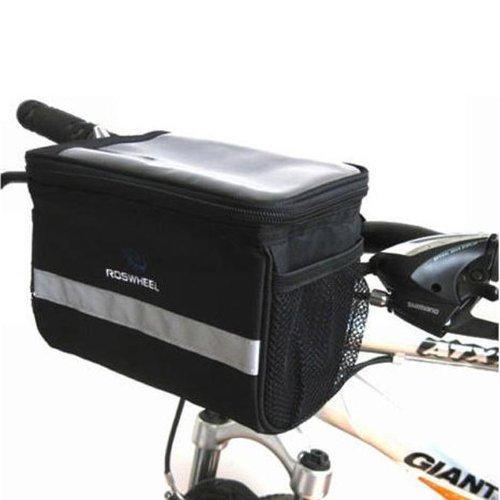 Roswheel Bicycle Handlebar Bag Front Basket Black - 20x15x12