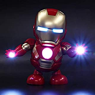 Dancing Robots for Boys - Mini Dancing Iron Man Marvel Fingers Avengers Toys, Dancing Robot Light Electric Music Toy with Music for Child Boys Girls Gift