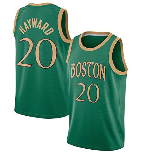 WSUN Camisetas De La NBA para Hombre - Camiseta De Baloncesto NBA Gordon Hayward 20# Boston Celtics - Camiseta Deportiva De Baloncesto Sin Mangas Transpirable De Ocio,B,M(170~175CM/65~75KG)
