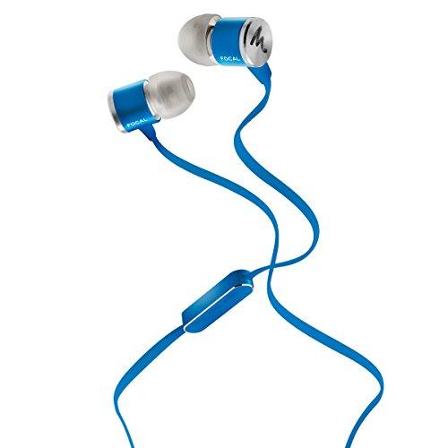 Focal Spark In-Ear Kopfhörer (mit Mikrofon und Fernbedienung, Anti-Tangle-Kabel, leichtgewichtig mit 14 g) Kobaltblau
