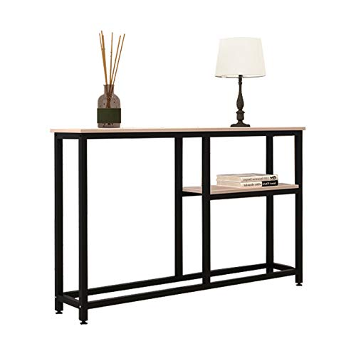 sogesfurniture Vintage Console Table Entryway Table with Shelf Storage, Stable Side End Table, for Hallway Entryway, Living Room, Bedroom, 120x23x75, BHEU-DX-122-Grey