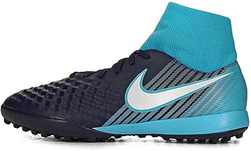 Nike Magistax Onda II DF TF, Scarpe da Calcio Uomo, Blu (Obsidian/Bianco/Gamma Blu/Glacier Blu 414), 45.5 EU