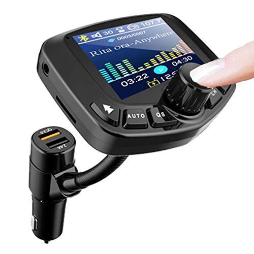 Blankspace Reproductor de MP3 para coche, receptor Bluetooth multifunción, disco U, radio FM para coche, cargador rápido de coche