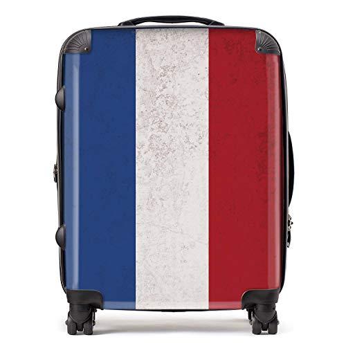 Holland vlag / nationale vlaggen West-Europa koffer met slot TSA 4 zwenkwielen bagage uittrekbaar groot 78 cm 95 l