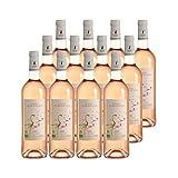 Sable de Camargue Flamant Gris Rosé - Bio - Domaine de Montcalm - Vin IGP Rosé du Languedoc - Roussillon - Lot de 12x75cl - Cépages Grenache, Merlot