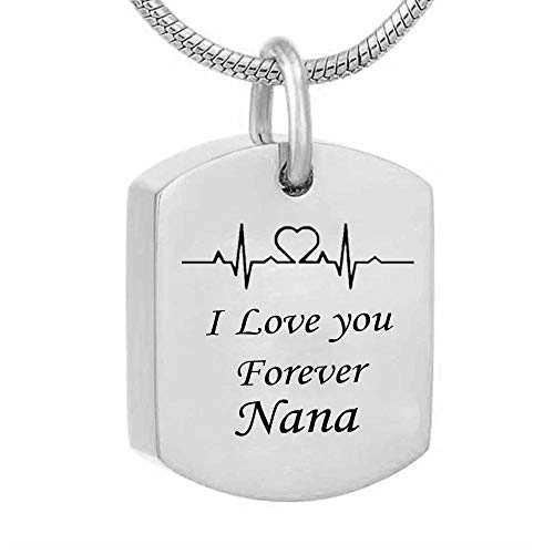 Cremación Colgante Electrocardiogra Dad Mom Opa Fire Betraft Urne Jewelry Necklace with Funnel Fill Kit Ashes Souvenir Monument I Love You Forever urna cremación Collar Memorial