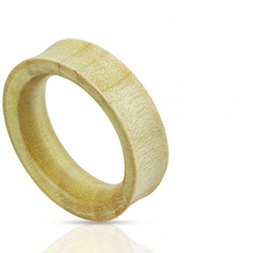 0GA (8mm) Natural Organic Blanc Crocodile Bois creux Tube oreille tunnel Saddle plug Piercings meilleurs matériaux de qualité