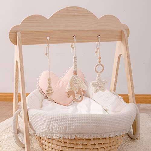 Promise Babe Gimnasio Bebe Manta Actividades Pórtico educativo móvil Baby Gym Plegable Juego Gimnasio (con colgante)