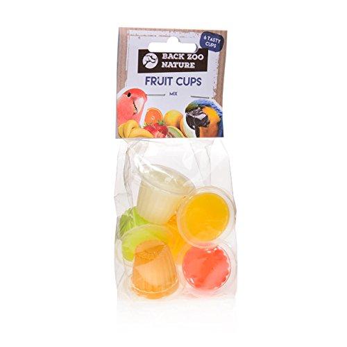 Fruit Cups, gelatine di frutta per pappagalli, confezione da 6 gusti misti