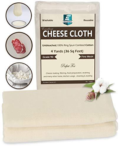 Excellent Deals CheeseCloth (90 Grade, 36 Sq Feet)...