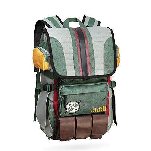 Star Wars Backpacks Yoda Boba Fett Laptop Men Backpack Vintage Travel Bags Games Movies Anime Male Bags (style 1)
