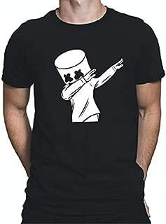 Tee Town Dab Marshmello Cotton Round Neck T-Shirt for Mens