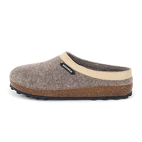 Giesswein Chamerau, Pantoffeln Unisex-Erwachsene, Beige, 41 EU