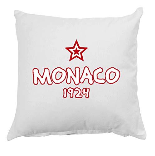 Tipolitografia Ghisleri Cojín Monaco 1924 con funda de almohada de 40 x 40 cm, para cama o sofá de 13 cm, funda y relleno de poliéster