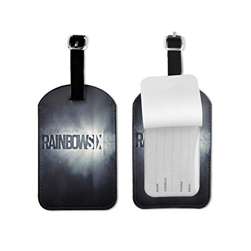Ra-Inbow Si-X Si-Ege Luggage Tag for Luggage Baggage Travel Identifier Microfiber PU 2.7*4.3inch